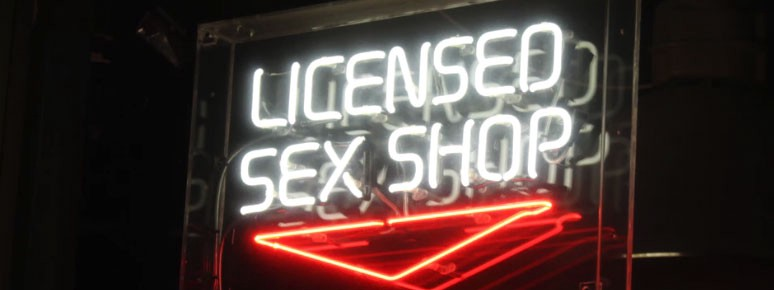 adult toy sex shop sign