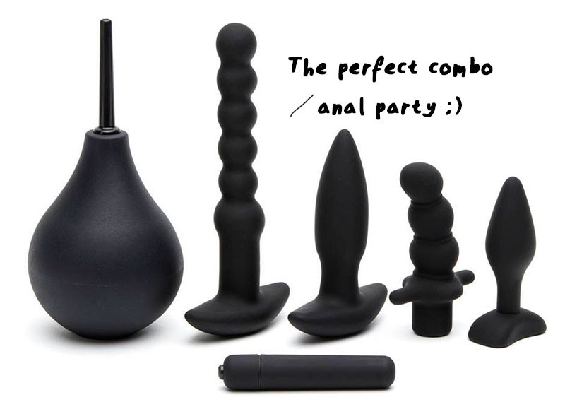 anal training butt plug kit